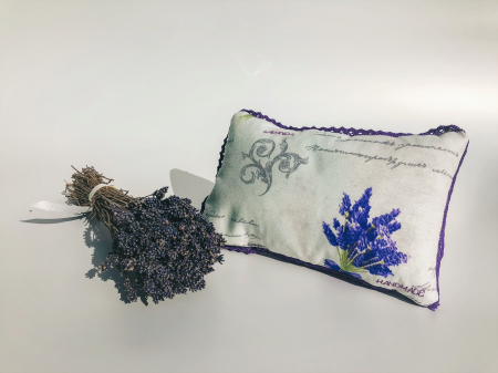 Pernă cu floare de lavandă, hipoalergenică, handmade1