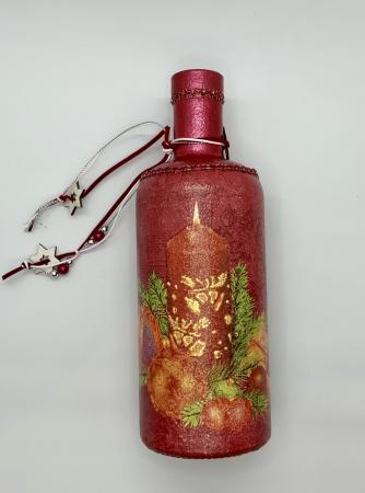 Sticlă decorată manual - Red [4]