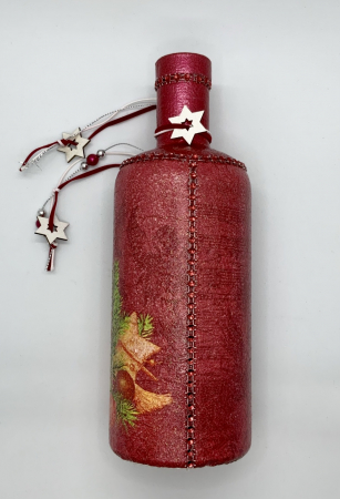 Sticlă decorată manual - Red [5]