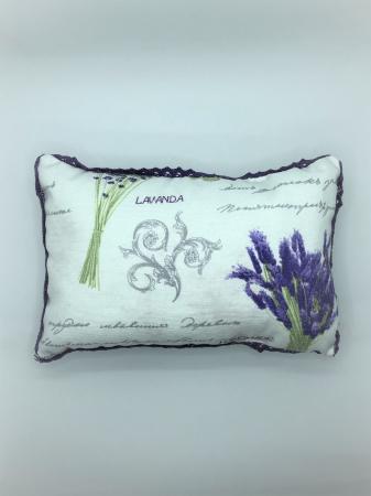 Pernă cu floare de lavandă, hipoalergenică, handmade2