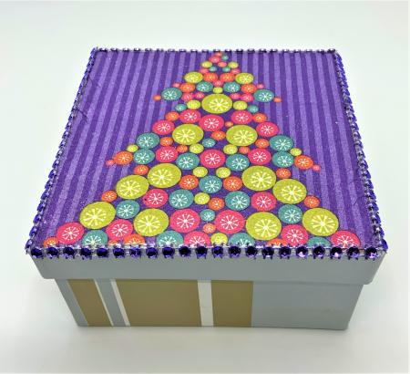 Set globuri PURPLE CHRISTMAS TREE handmade3