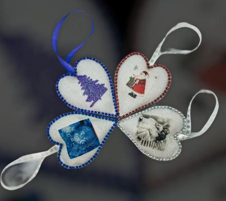 Decorațiune cu flori de lavandă - albastru4
