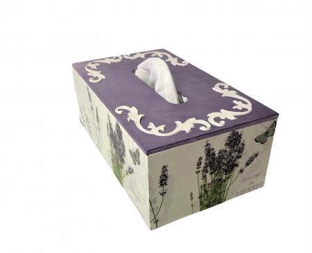Cutie pentru șervetele - temă Lavandă2