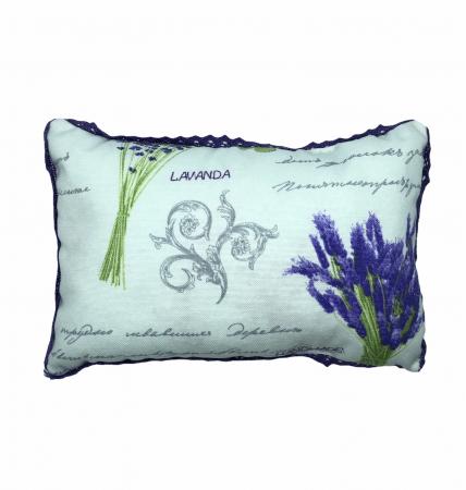 Pernă cu floare de lavandă, hipoalergenică, handmade0