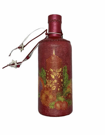 Sticlă decorată manual - Red [3]
