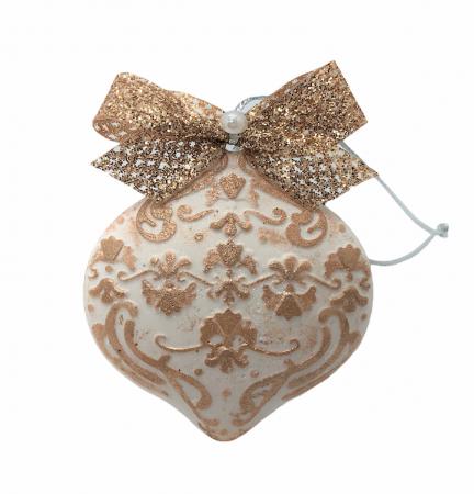 Decorațiune ceramică parfumată handmade - auriu0