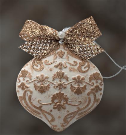 Decorațiune ceramică parfumată handmade - auriu3