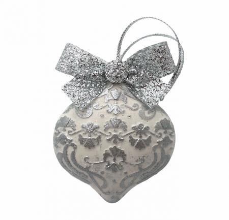 Decorațiune ceramică parfumată handmade - argintiu [0]
