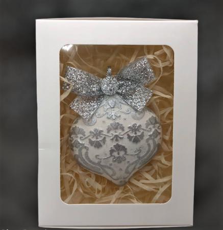 Decorațiune ceramică parfumată handmade - argintiu [4]