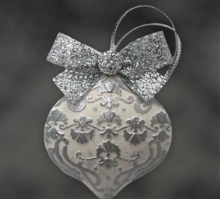 Decorațiune ceramică parfumată handmade - argintiu [3]