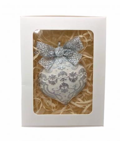 Decorațiune ceramică parfumată handmade - argintiu [1]