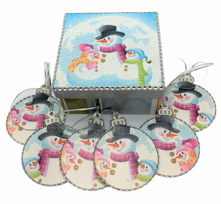 Set globuri SNOWMAN handmade0