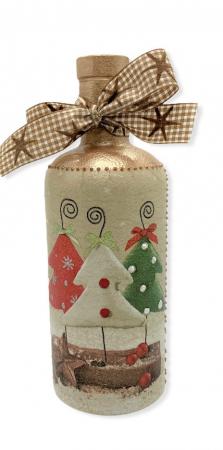 Sticlă decorată manual - Christmas Trees0
