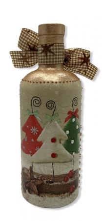 Sticlă decorată manual - Christmas Trees3