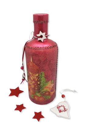 Sticlă decorată manual - Red [2]