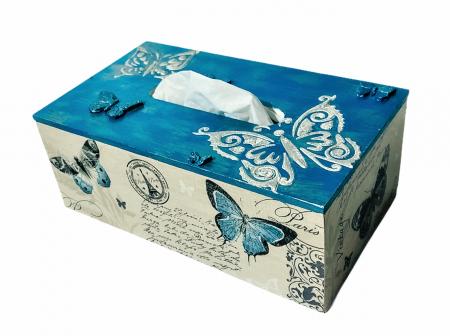 Cutie pentru șervețele - temă Fluturi0