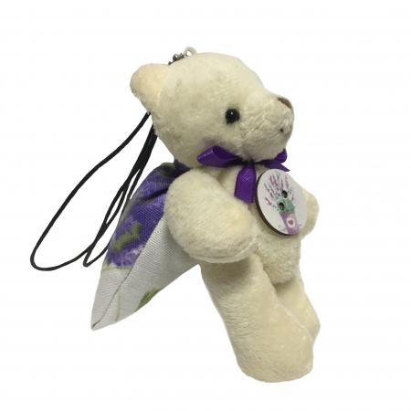 Breloc ursuleț cu săculeț flori lavandă [0]