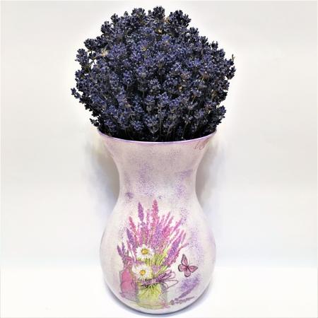 Aranjament cu lavandă naturală în vază handmade2