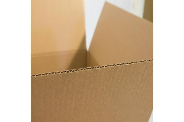 Cutii depozitare carton clasice, din trei straturi carton ondulat, krat natur, netiparite 2