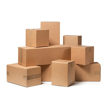 Cutii depozitare carton clasice, din trei straturi carton ondulat, krat natur, netiparite 3