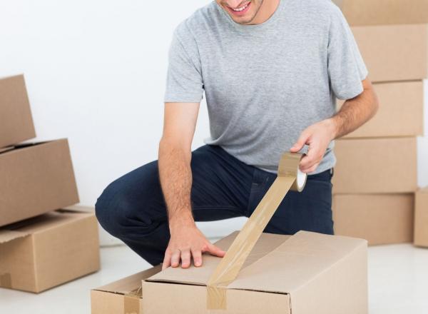 Cutii depozitare carton clasice, din trei straturi carton ondulat, krat natur, netiparite 1