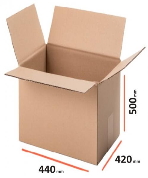 Cutii depozitare carton clasice, din trei straturi carton ondulat, krat natur, netiparite 0