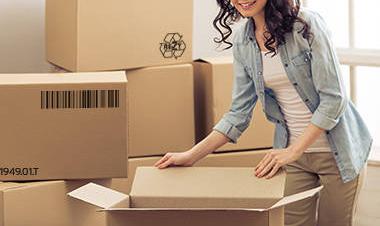 Cutii depozitare carton clasice, carton Kraft Natur trei straturi 1