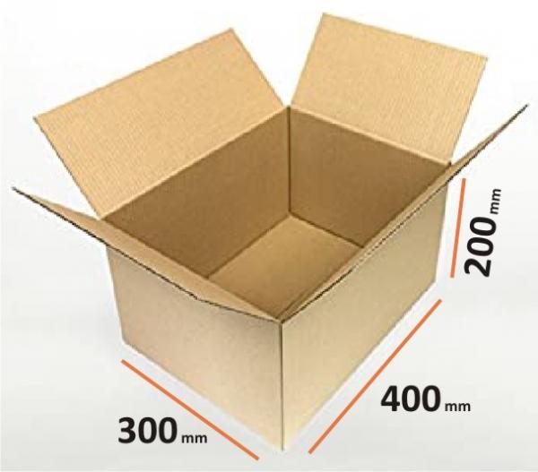 Cutii depozitare carton clasice, carton Kraft Natur trei straturi 0
