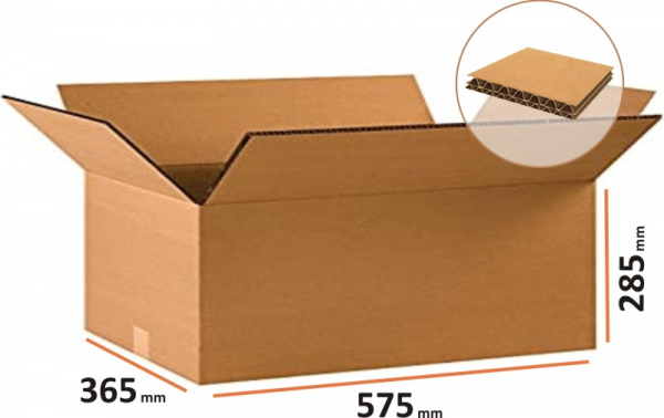 Cutii depozitare carton clasice, carton Kraft Natur cinci straturi 0