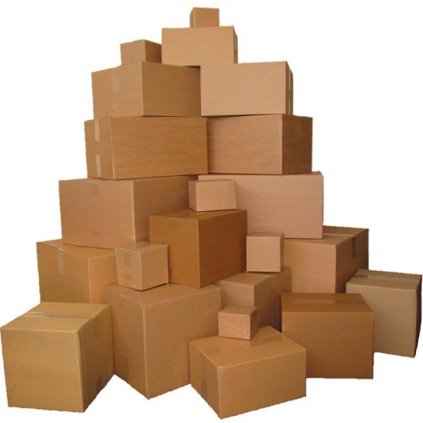 Cutii depozitare carton clasice, carton Kraft Natur cinci straturi 2