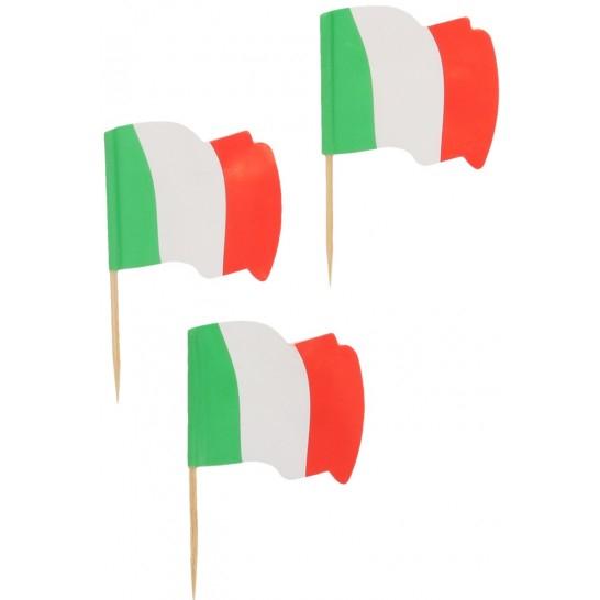 Ornamente si decoratiuni din lemn steag ITALIA 6.5 cm 0