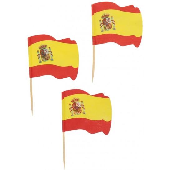 Ornamente si decoratiuni din lemn steag SPANIA 6.5 cm 0