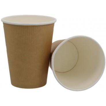 Pahare biodegradabile din kraft natur cu PLA 12Oz 0