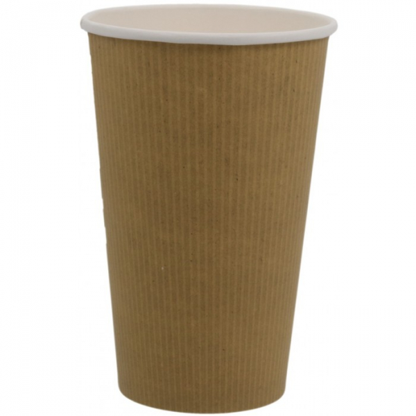 Pahare biodegradabile din kraft natur cu PLA 16Oz 0