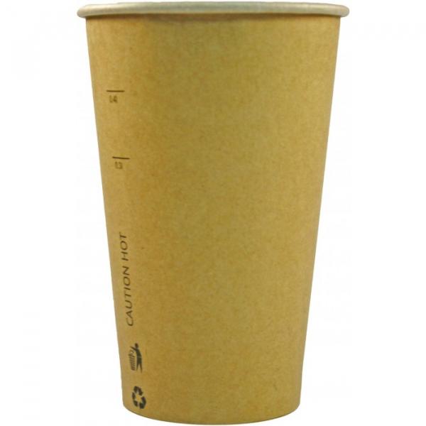 Pahare carton KRAFT natur 16Oz-450 ml 0