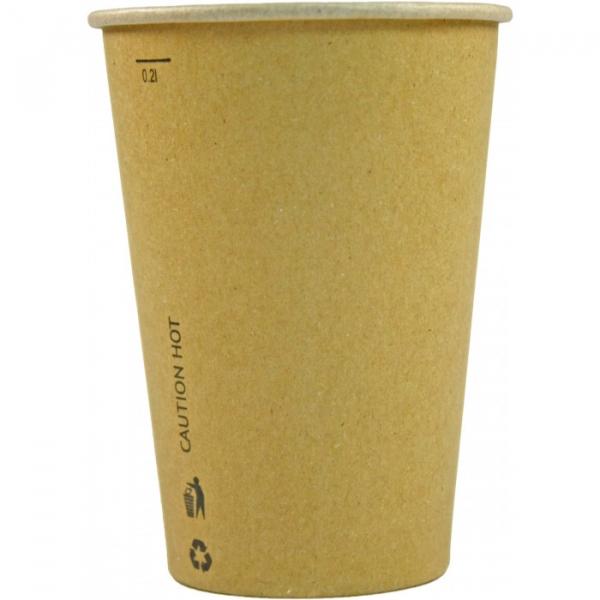 Pahare carton KRAFT natur 175 ml 0