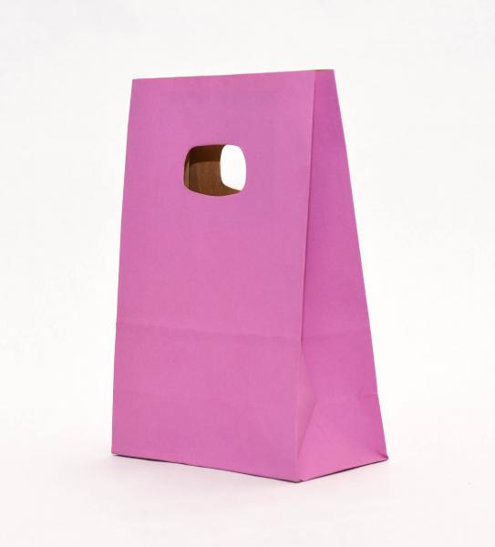 Punga Hartie KRAFT albit 140x70x210 mm netiparita - PURPLE 0