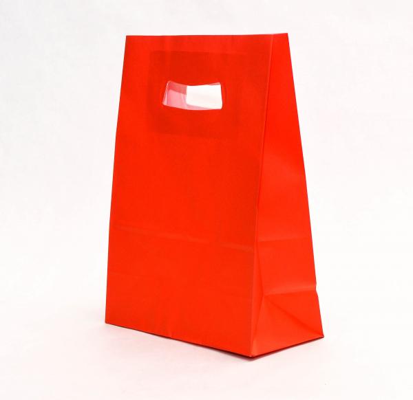 Punga Hartie KRAFT albit 180x90x250 mm netiparita - ROSU 0