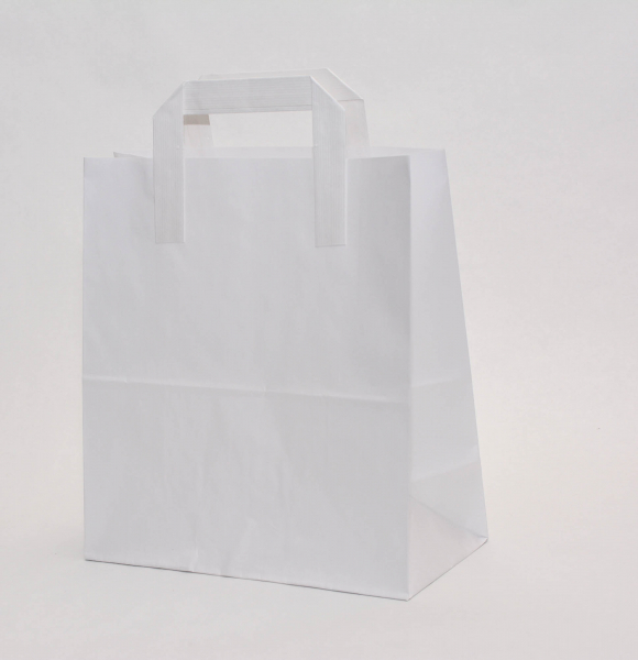 Punga Hartie KRAFT albit 220x110x240 mm netiparita 0