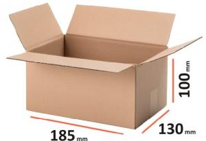 Cutii carton autoformare, 185x130x100 mm, Kraft natur din trei straturi carton ondulat (10 BUC/SET, 1000 BUC/PALET)0
