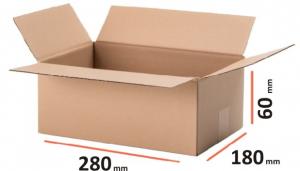 Cutii carton autoformare, 280x180x60 mm, Kraft natur din trei straturi carton ondulat (10 BUC/SET, 1000 BUC/PALET)0