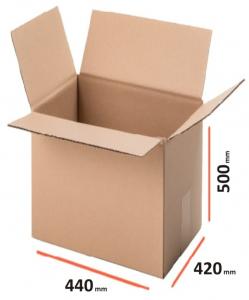 Cutii carton ondulat clasice, 440x420x500 mm, Kraft natur trei straturi (10 BUC/SET, 1000 BUC/PALET)0