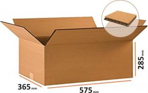 Cutii depozitare carton clasice, 575x365x285 mm, carton Kraft Natur cinci straturi (5 BUC/SET, 70 BUC/PALET)0