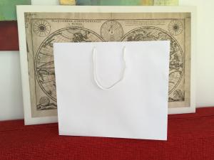 Punga carton ALB 38x18x35 cm netiparita, PREMIUM, burduf lat0
