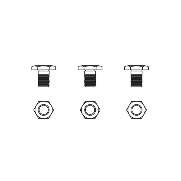 Surub ax pentru foarfecele Vesco A1, A3, A6 0