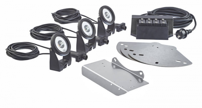 LED-floating fountain illumination white - Kit 3 spoturi LED pentru fantani plutitoare 0