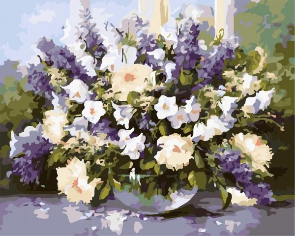 Picturi pe numere adulti - flori de vara