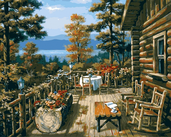 Picturi pe numere adulti - cabana 0