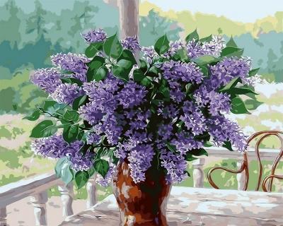 Liliac - Picturi pe numere - (40 x 50 cm)