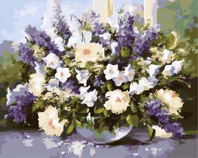 Flori de vara - Picturi pe numere - (40 x 50 cm)
